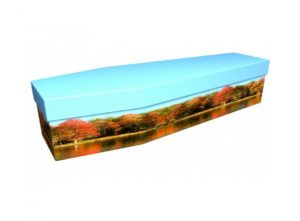 Cardboard coffin - Autumn scene - 3748