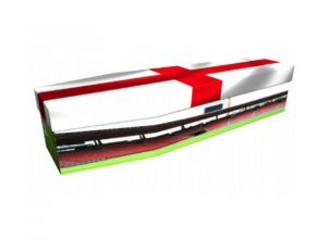 Cardboard coffin - Football with England flag - 3757