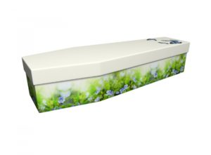 Cardboard coffin - Forget Me Not - 3591
