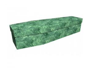 Cardboard coffin - Green marble - 3679