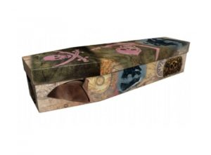 Cardboard coffin - Jolly Roger - 3646
