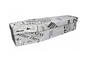 Cardboard coffin - Newspaper - 3912