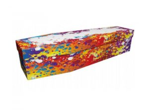 Cardboard coffin - Paint splatters - 3729