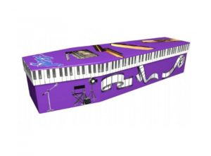 Cardboard coffin - Purple jazz - 3798