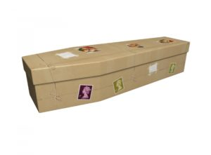 Cardboard coffin - Return to Sender Stamps - 3867