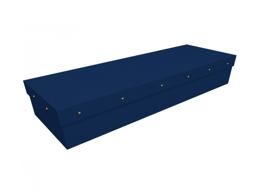 Cardboard coffin - Royal blue SQ Casket (CR-11) - 3821