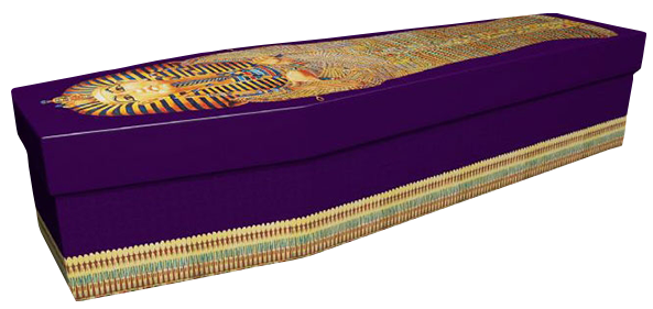 Pictorial Cardboard Coffin - Egyption