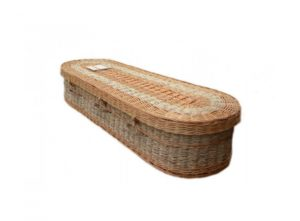 Wicker coffin (Adult) - Sweet Isis - Oval Cornskin + Willow - 5010