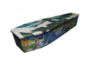 Wooden coffin - Art design - 4067