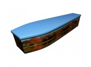Wooden coffin - Autumn scene - 4041