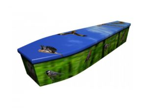 Wooden coffin - Birds of Britain summer - 4071