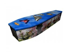 Wooden coffin - Butterfly - 4138