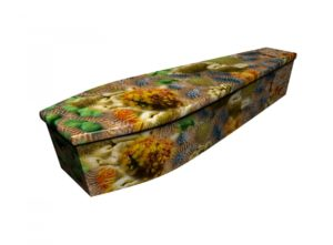 Wooden coffin - Coral - 4242