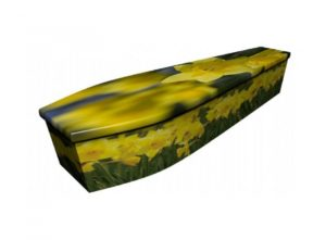 Wooden coffin - Daffodils 1 - 4141