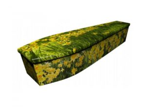 Wooden coffin - Daffodils 2 - 4142