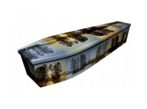Wooden coffin - Four seasons - 4084