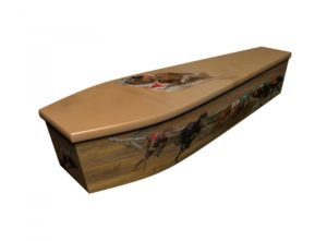 Wooden coffin - Greyhounds - 4189