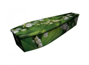 Wooden coffin - Lilly of the Valley - 4202
