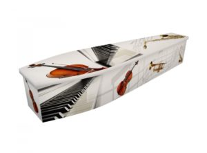 Wooden coffin - Musical instruments with bass - 4099