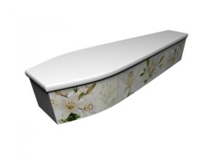 Wooden coffin - Oriental Lily - 4214