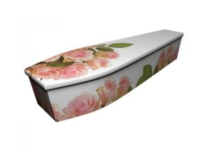 Wooden coffin - Pink Rose - 4256