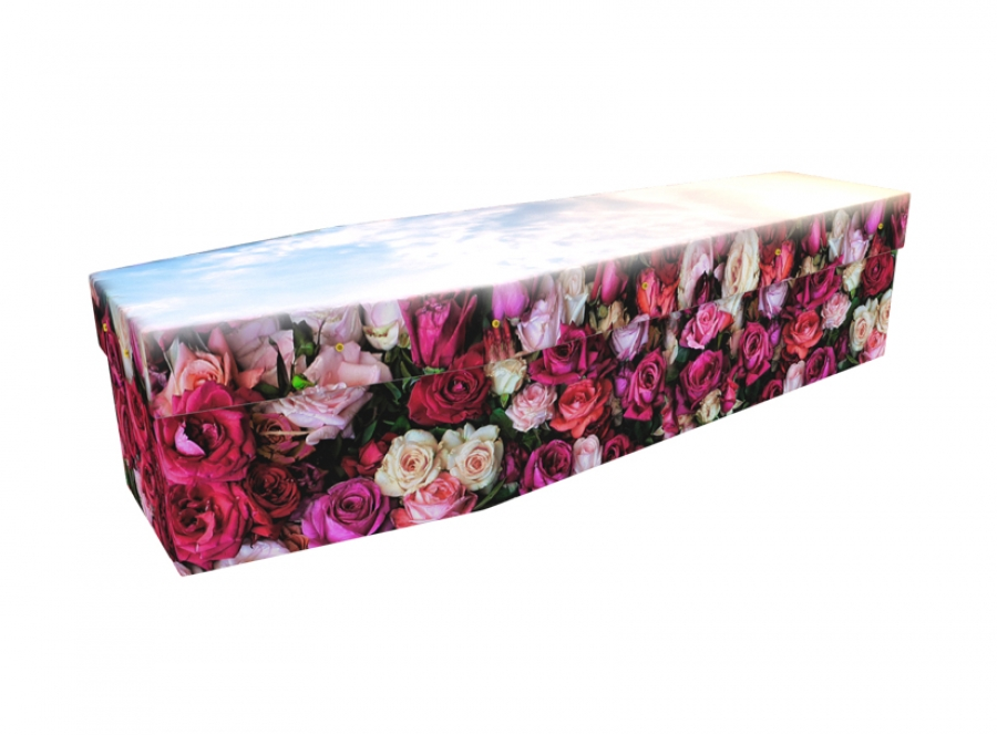 Cardboard coffin - Bed of Roses - 3571