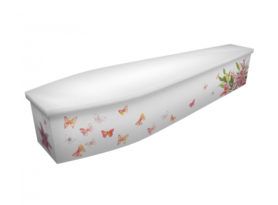 Wooden coffin - Stargazer Lily - 4296