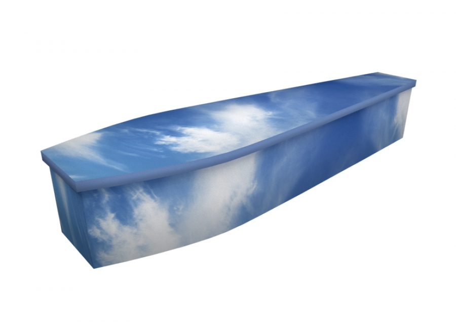 Wooden coffin - Summer Sky - 4306