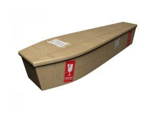 Wooden coffin - Return to Sender Fragile - 4224