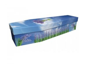 Beautiful Bluebell Cardboard Coffin - 3949