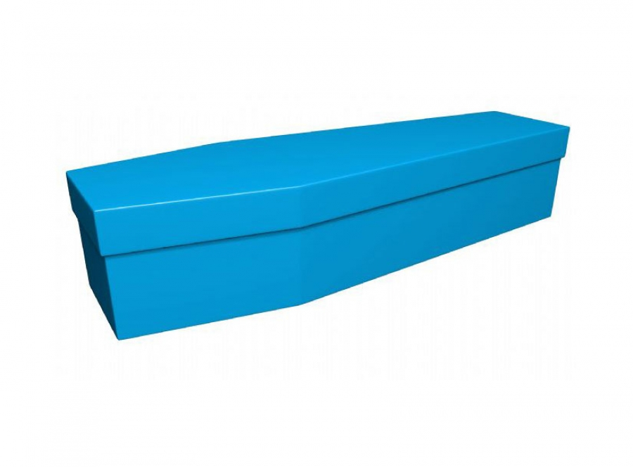 Cardboard coffin - Aqua blue (CR-4) - 3776