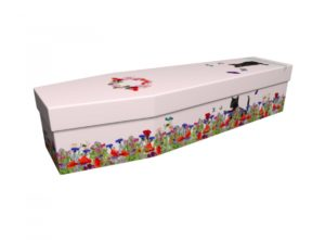 Cardboard coffin - Black Cats Blossom - 3837
