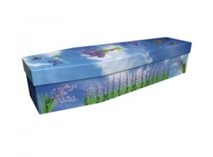 Cardboard coffin - Bluebell Butterflies - 3872