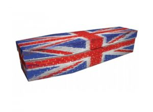 Cardboard coffin - Brick Union Jack - 3994