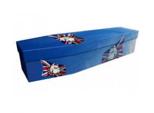 Cardboard coffin - British Bulldog - 3644