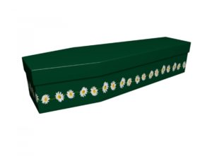 Cardboard coffin - British Green Daisy Chain - 3875