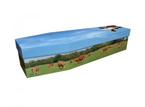 Cardboard coffin - Brown Cows - 3745