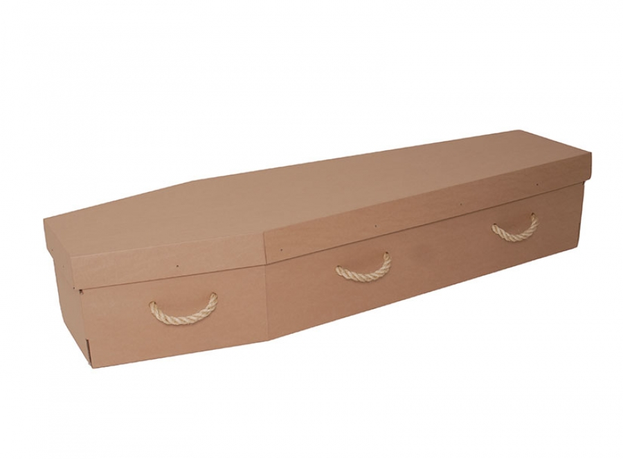 Cardboard coffin - Brown economy - 3712