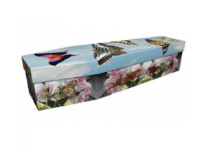 Cardboard coffin - Butterfly - 3683