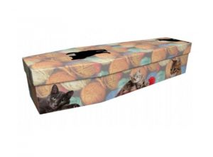 Cardboard coffin - Cats - 3965