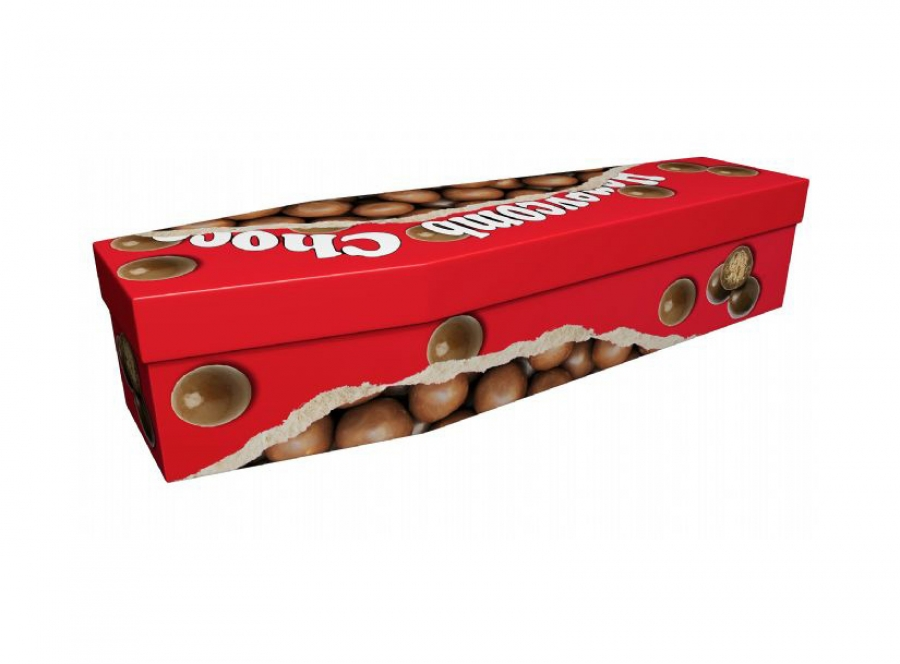 Cardboard coffin - Chocolate balls - 3973