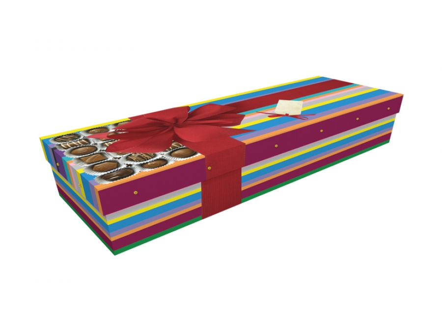 Cardboard coffin - Chocolate Box SQ Casket - 3743