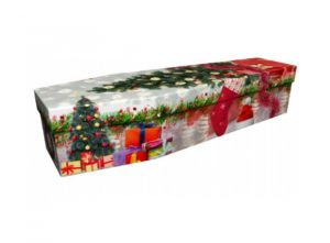 Cardboard coffin - Christmas scene - 3629