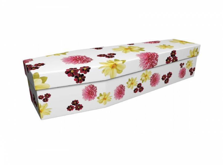 Cardboard coffin - Dahlia and Cosmos - 3651