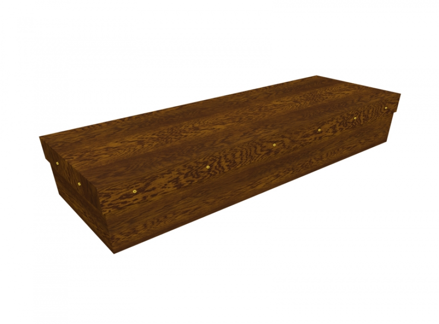 Cardboard coffin - Dark Oak SQ Casket - 3713