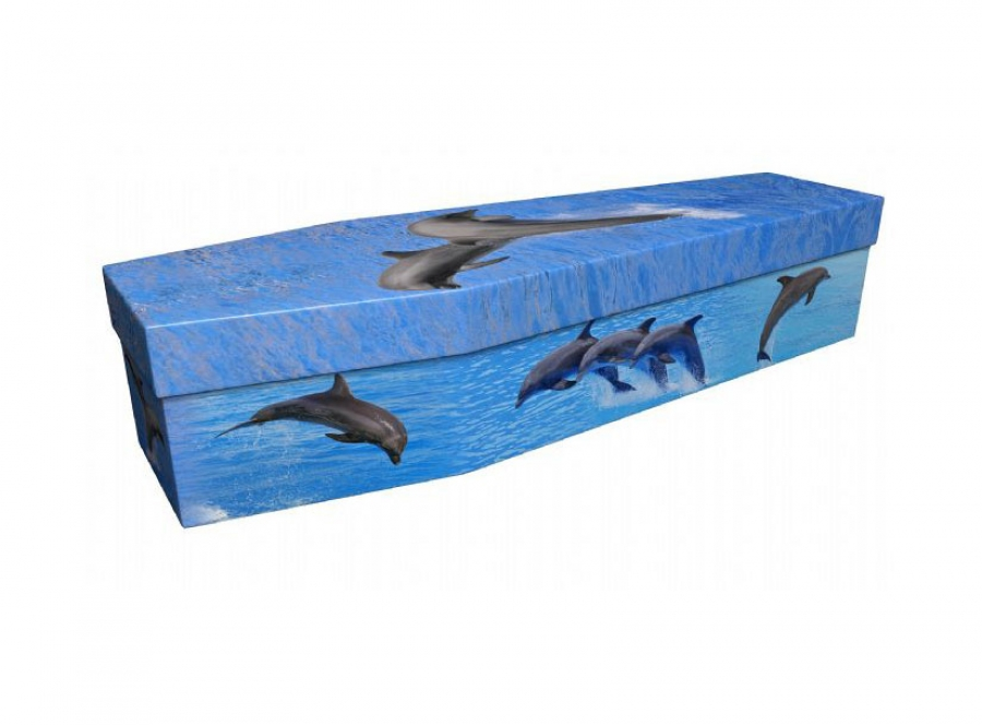 Cardboard coffin - Dolphins - 3937