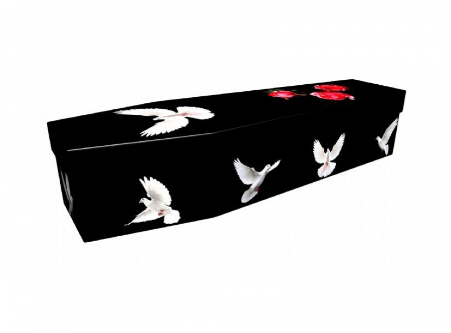 Cardboard coffin - Doves - 3761