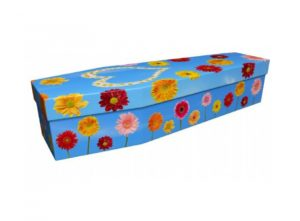Cardboard coffin - Floral colour - 3974