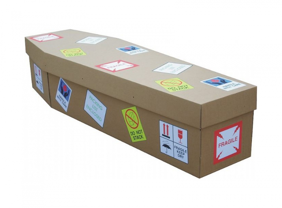 Cardboard coffin - Fragile goods - 3726