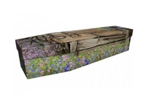 Cardboard coffin - Garden shed - 3943